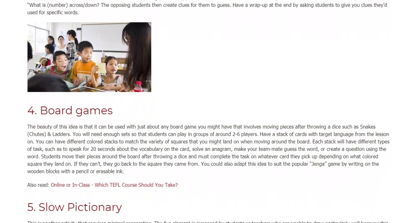 7 Fun Activities for Teaching Vocabulary in the ESL Classroom   ITTT   TEFL Blog