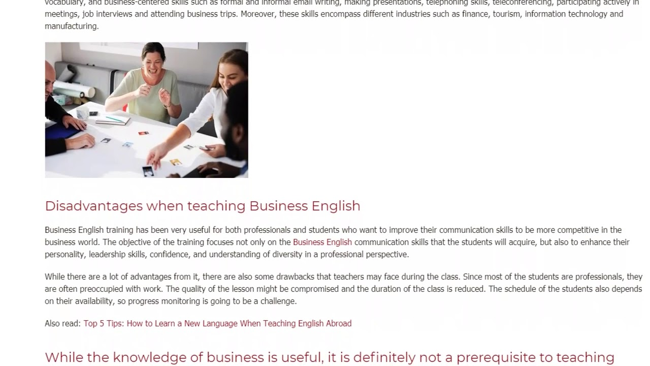 Why is English Important in Business | ITTT TEFL BLOG