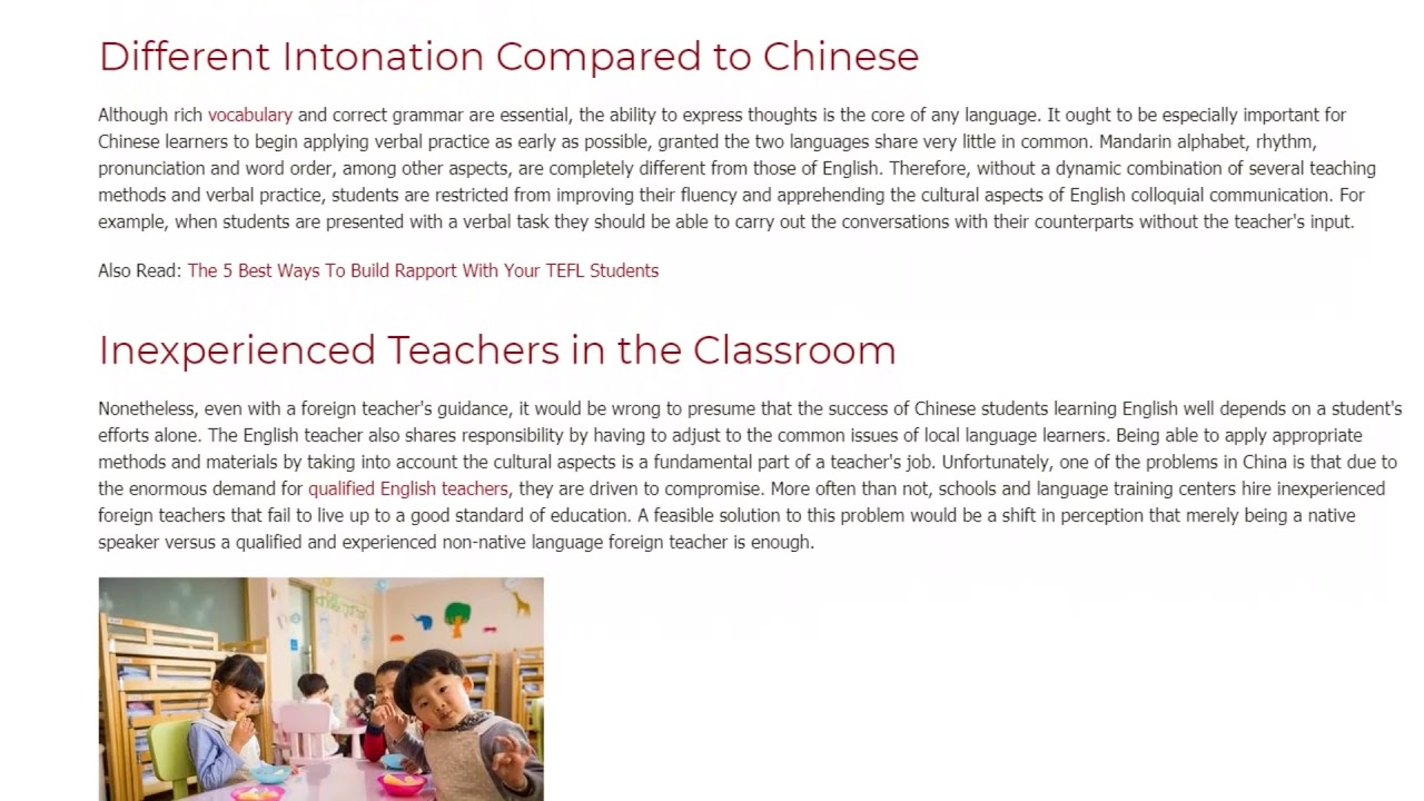 The Most Common Problems Students in China Face When Learning English | ITTT TEFL BLOG