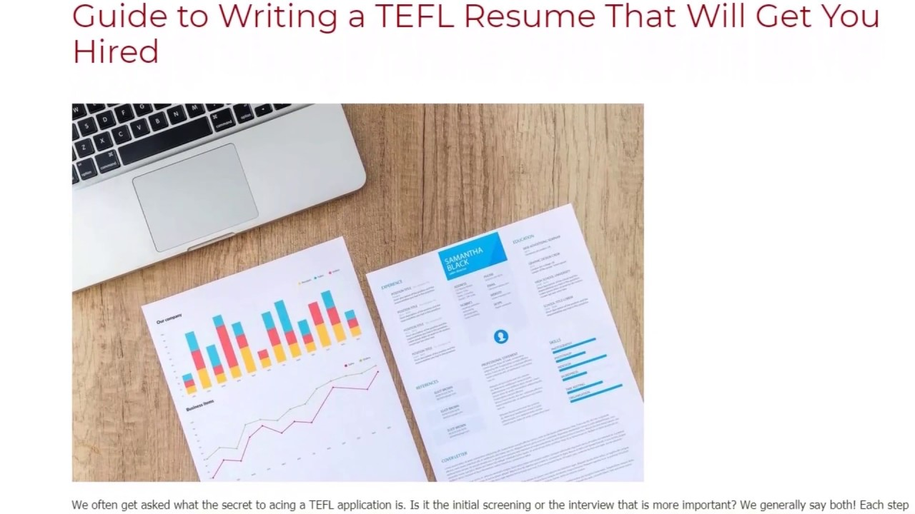 Guide to Writing a TEFL Resume That Will Get You Hired | ITTT | TEFL Blog