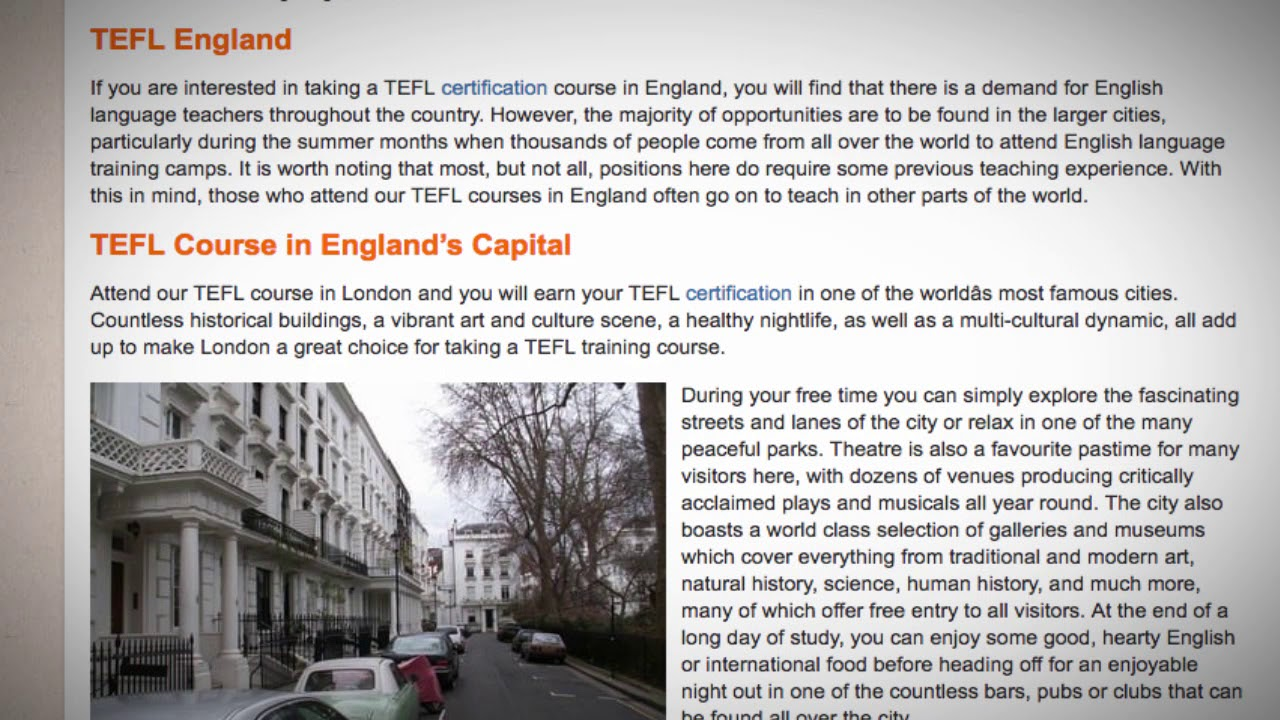 TEFL / TESOL Course in England   Teach & Live abroad!