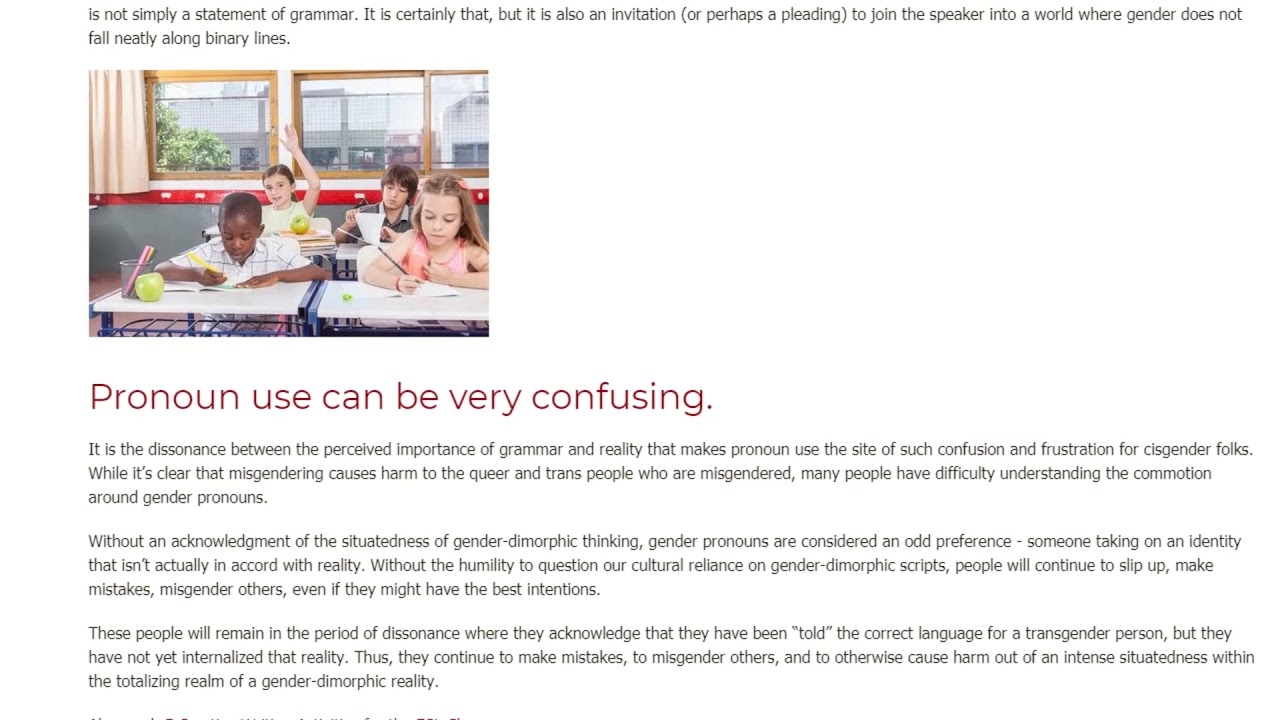 The Importance of Teaching Pronouns Inclusively | ITTT TEFL BLOG