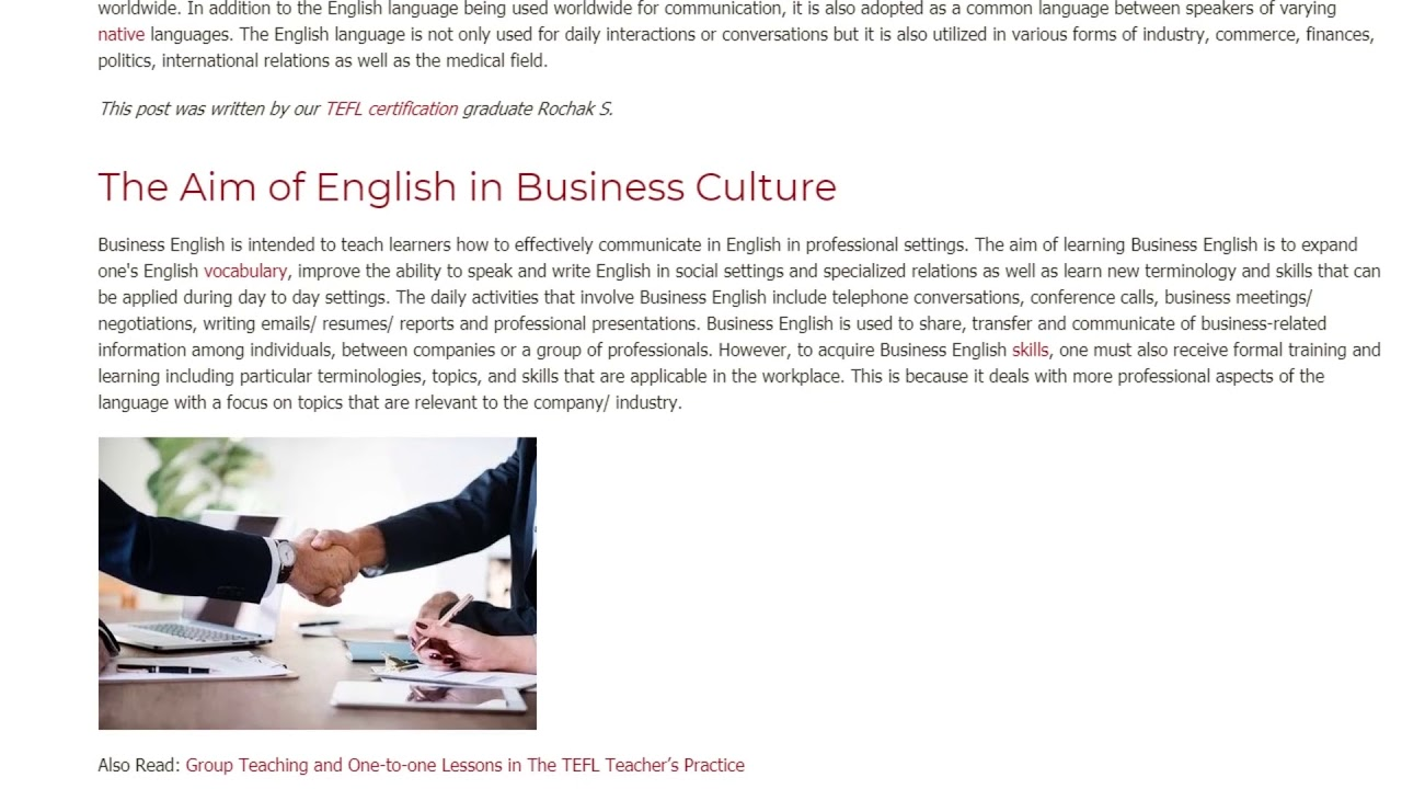 Business English as a Matter of Modern Communication  | ITTT TEFL BLOG