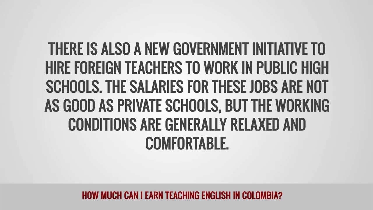 ITTT FAQs – How much can I earn teaching English in Colombia