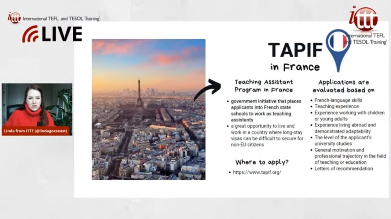 Teaching English Abroad: TAPIF Program in France