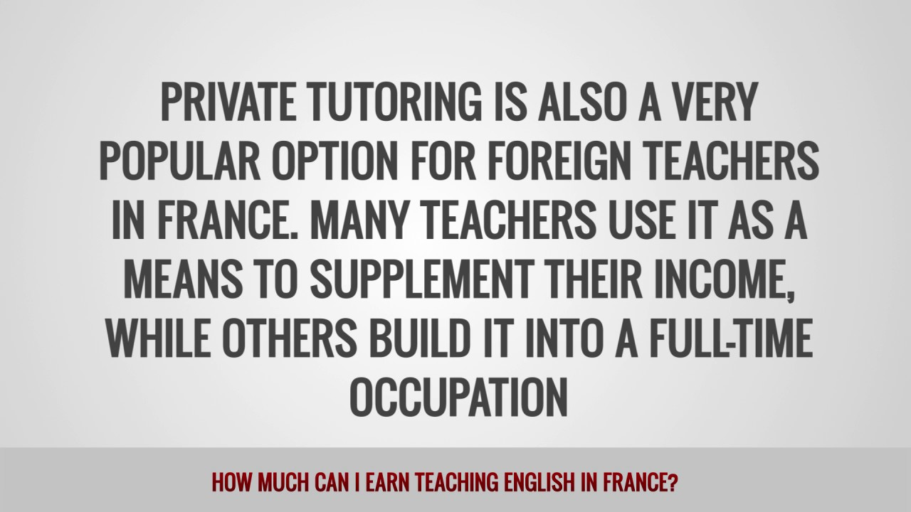 ITTT FAQs – How much can I earn teaching English in France?