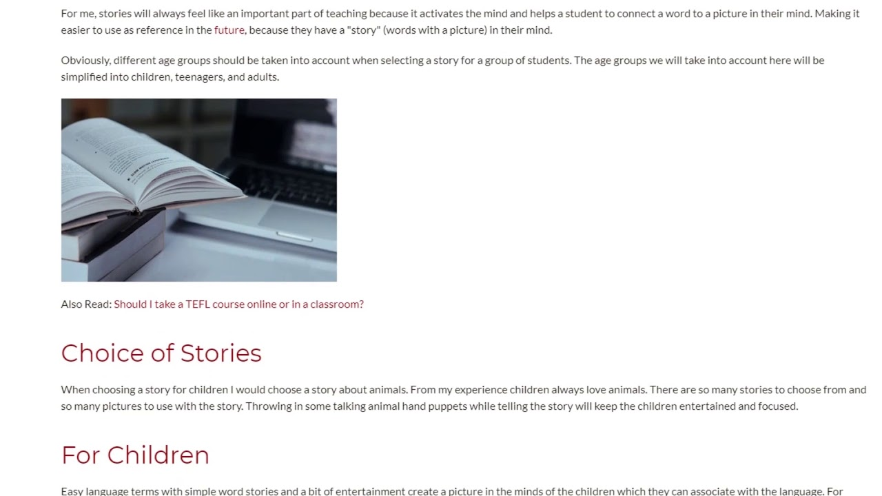 Top Tips For Teaching English Through Stories | ITTT TEFL BLOG