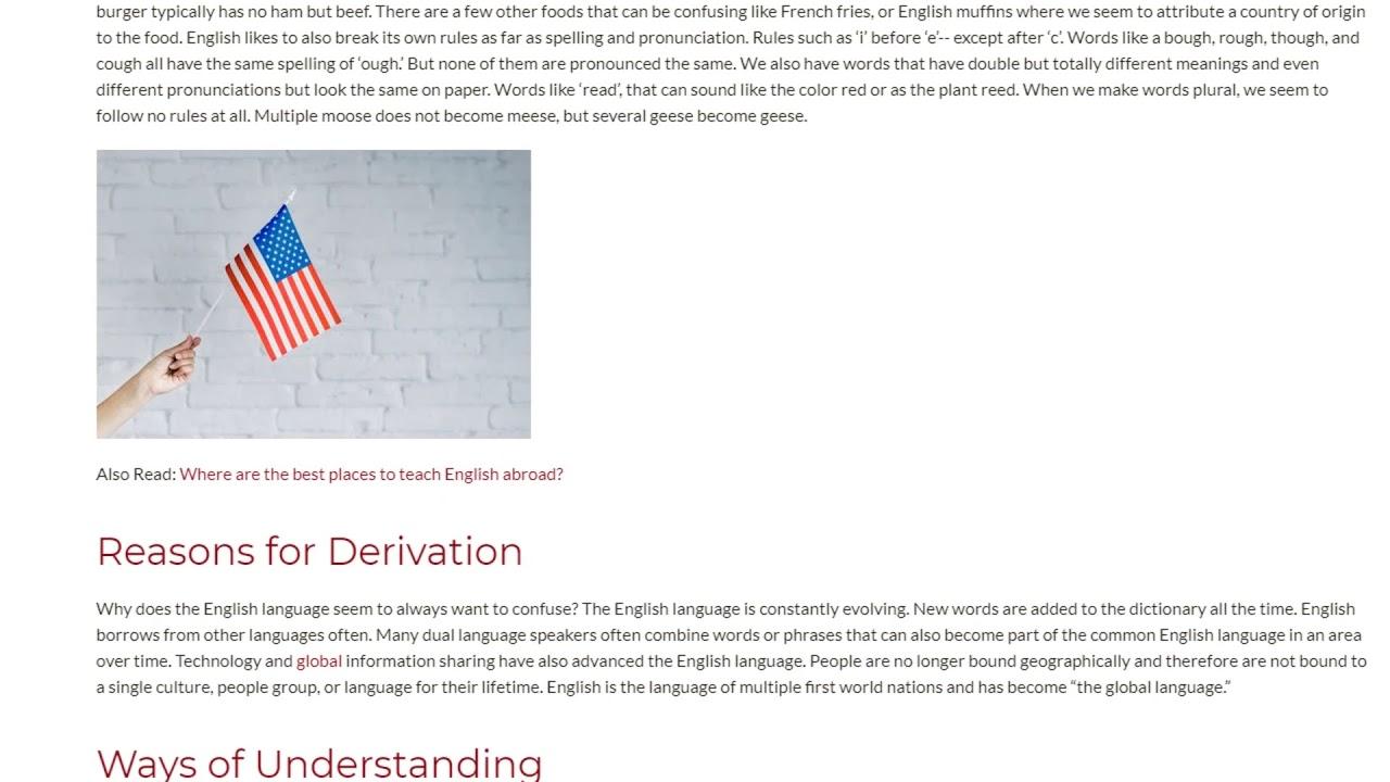 American Football as a Mirror to Understand English Language Derivatives | ITTT TEFL BLOG