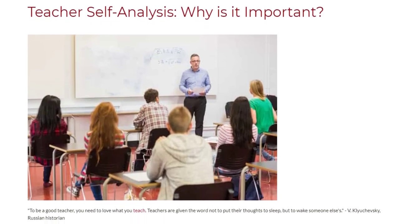 Teacher Self-Analysis: Why is it Important? | ITTT TEFL BLOG