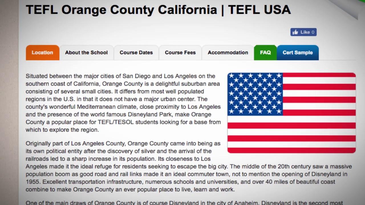 TEFL / TESOL Course in Orange County, USA | Teach & Live abroad!