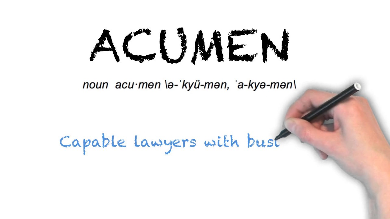 "Ask Linda How To Pronounce ""acumen"""