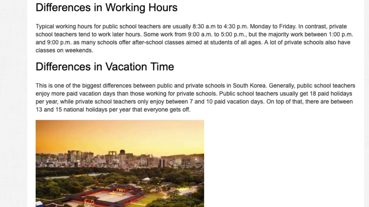 Private or Public Schools in South Korea – Where is it Better to Teach English   ITTT TEFL BLOG