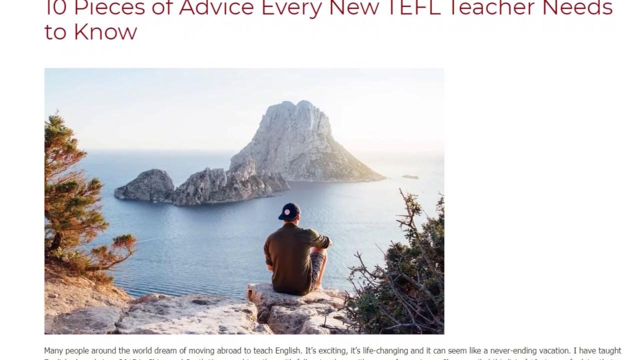 10 Pieces of Advice Every New TEFL Teacher Needs to Know | ITTT TEFL BLOG
