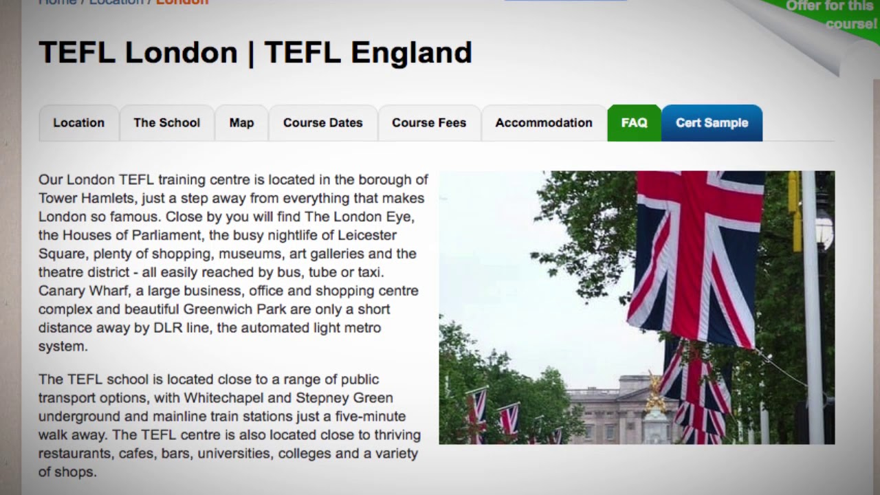 Welcome to Our TEFL / TESOL School in London, England | Teach & Live abroad!