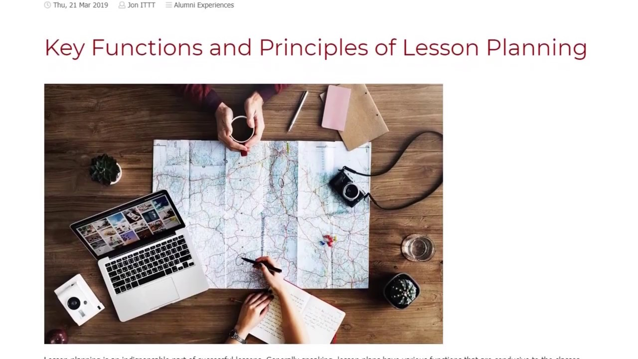 Key Functions and Principles of Lesson Planning | ITTT TEFL BLOG