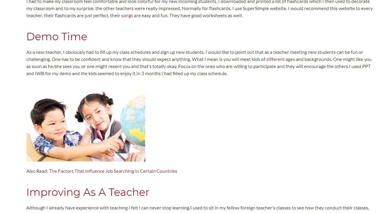 Personal Teaching Experience Practice in Shanghai | ITTT TEFL BLOG