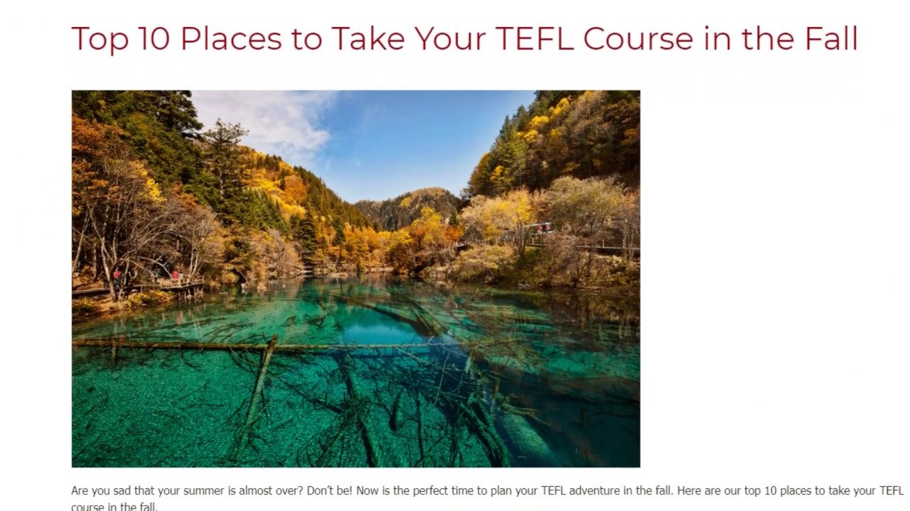Top 10 Places to Take Your TEFL Course in the Fall | ITTT TEFL BLOG