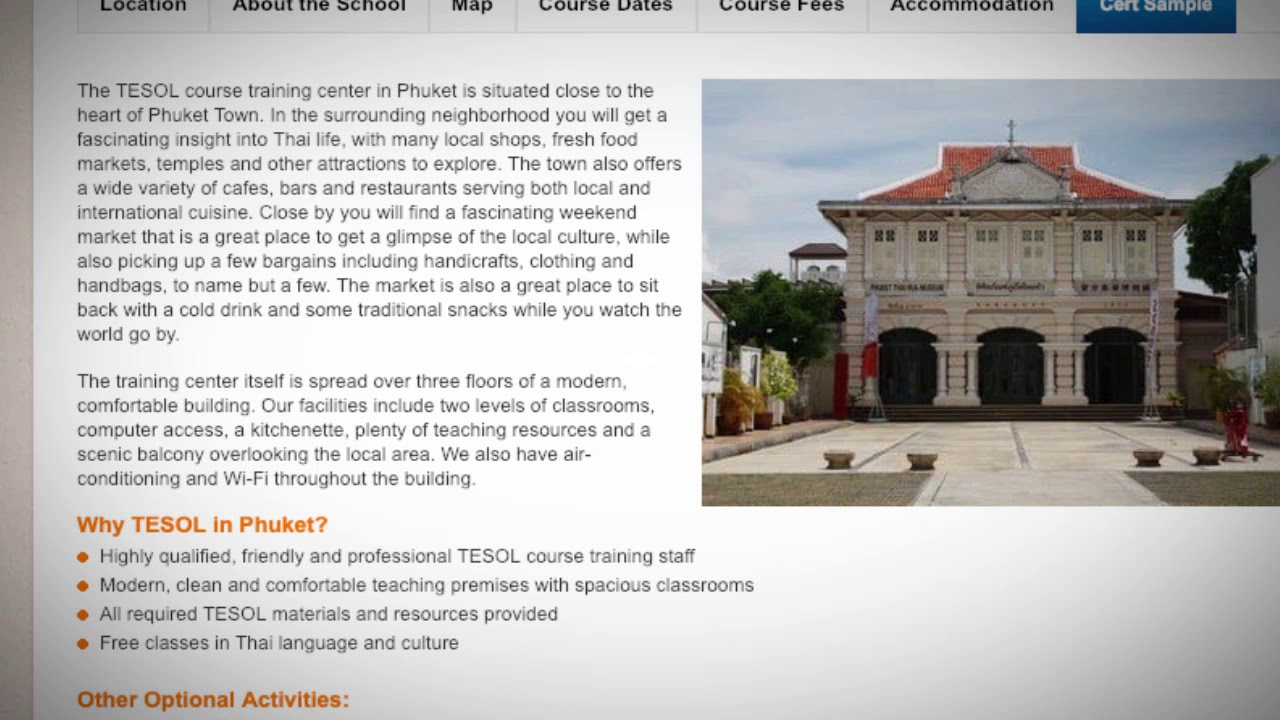 Welcome to Our TEFL / TESOL School in Phuket, Thailand | Teach & Live abroad!