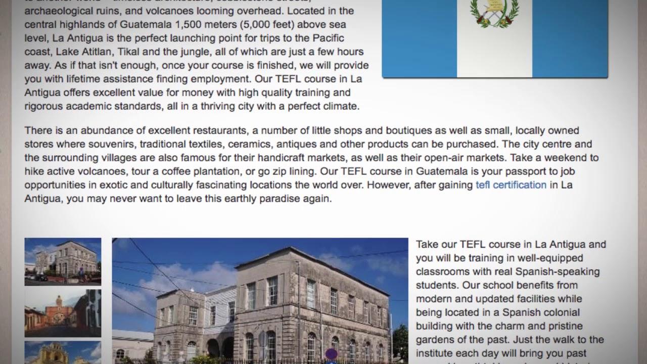 TEFL / TESOL Course in La Antigua, Guatemala   Teach & Live abroad!