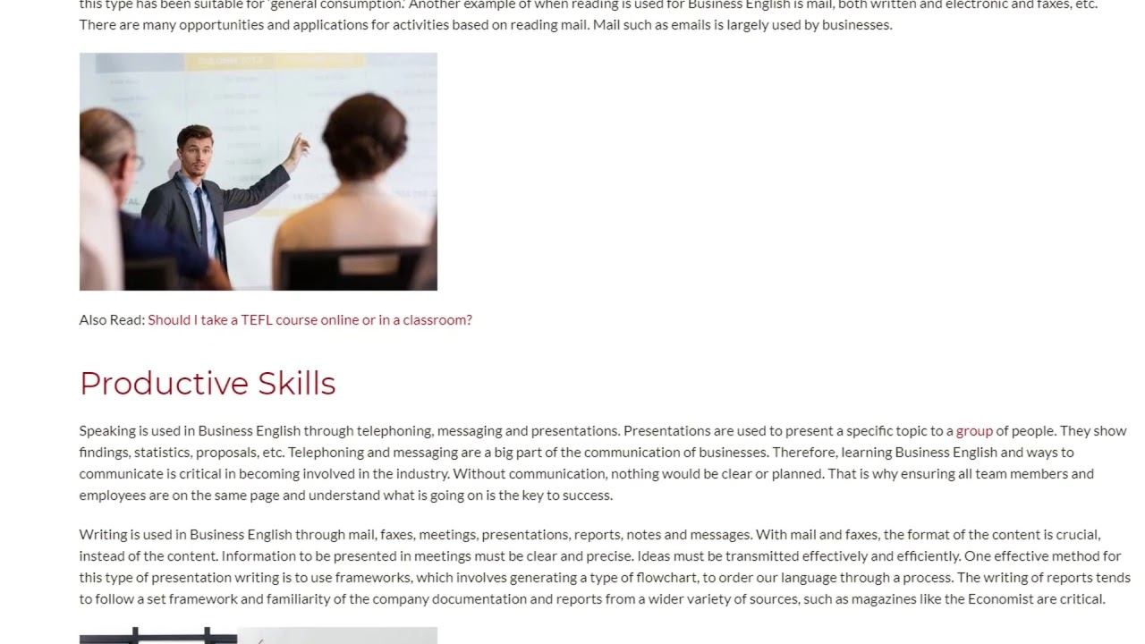All The Skills Required to Teach Business English | ITTT TEFL BLOG