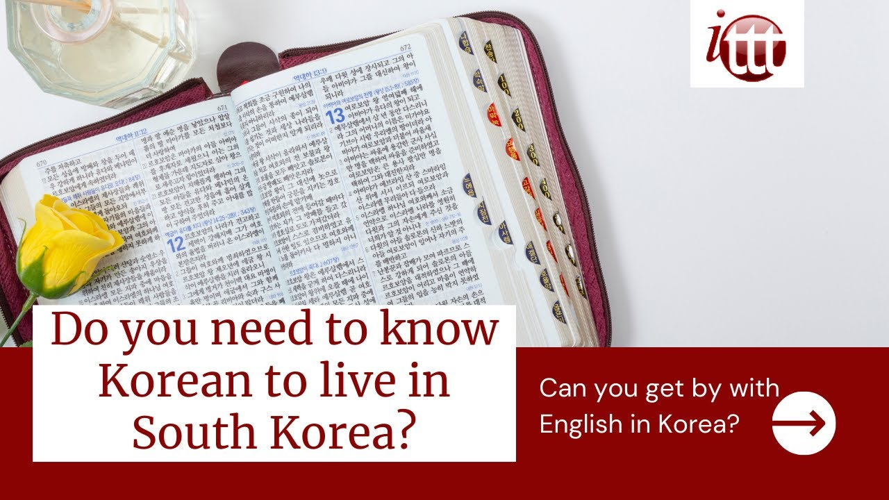Do you need to know Korean to live in South Korea? | ITTT TEFL and TESOL Training