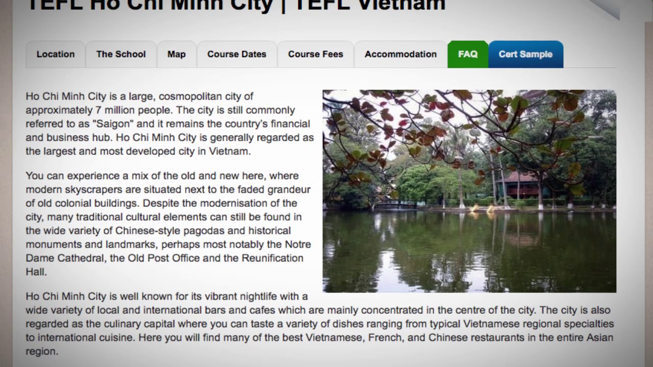 Welcome to Our TEFL / TESOL School in Ho Chi Minh, Vietnam   Teach & Live abroad!