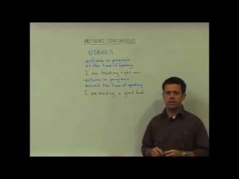 English Grammar – Present Continuous – Usage