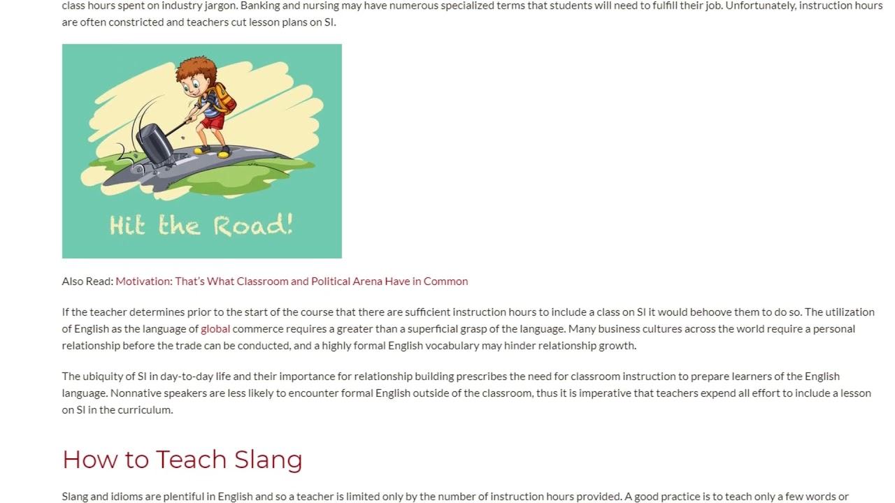 Relevance of Slang and Idioms in the Classroom | ITTT TEFL BLOG