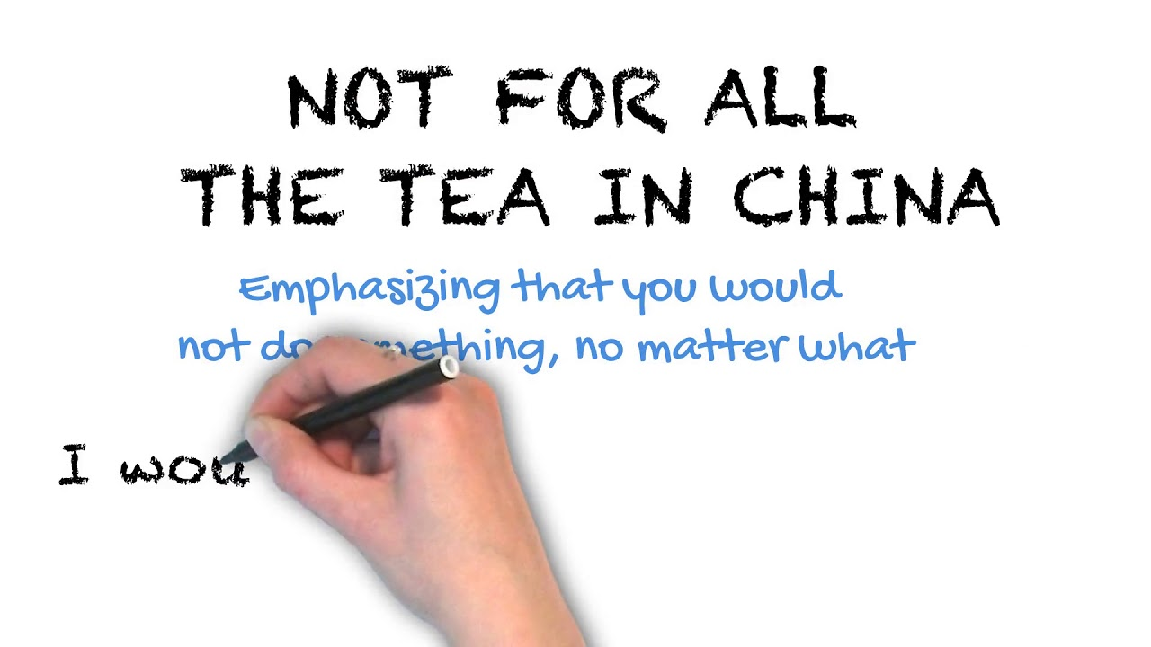 Not for All the Tea in China | Ask Linda! | Idioms