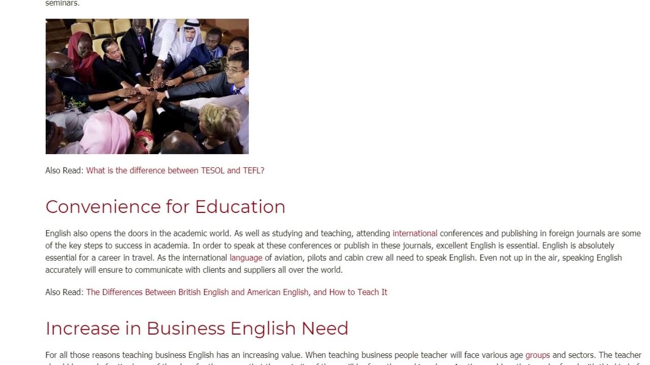The Influence of English on Globalization | ITTT TEFL BLOG