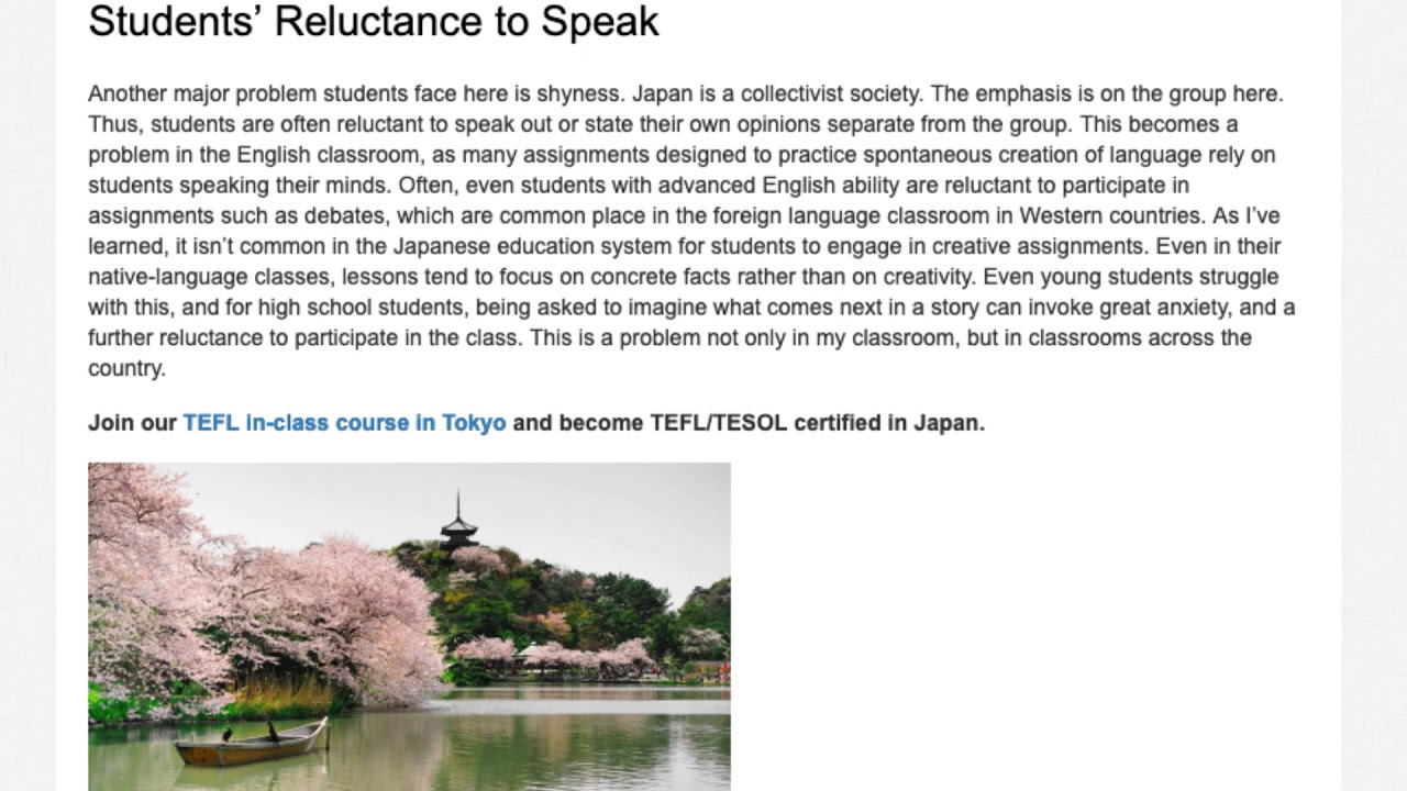 The Most Common Problems Students in Japan Face When Learning English | ITTT TEFL BLOG