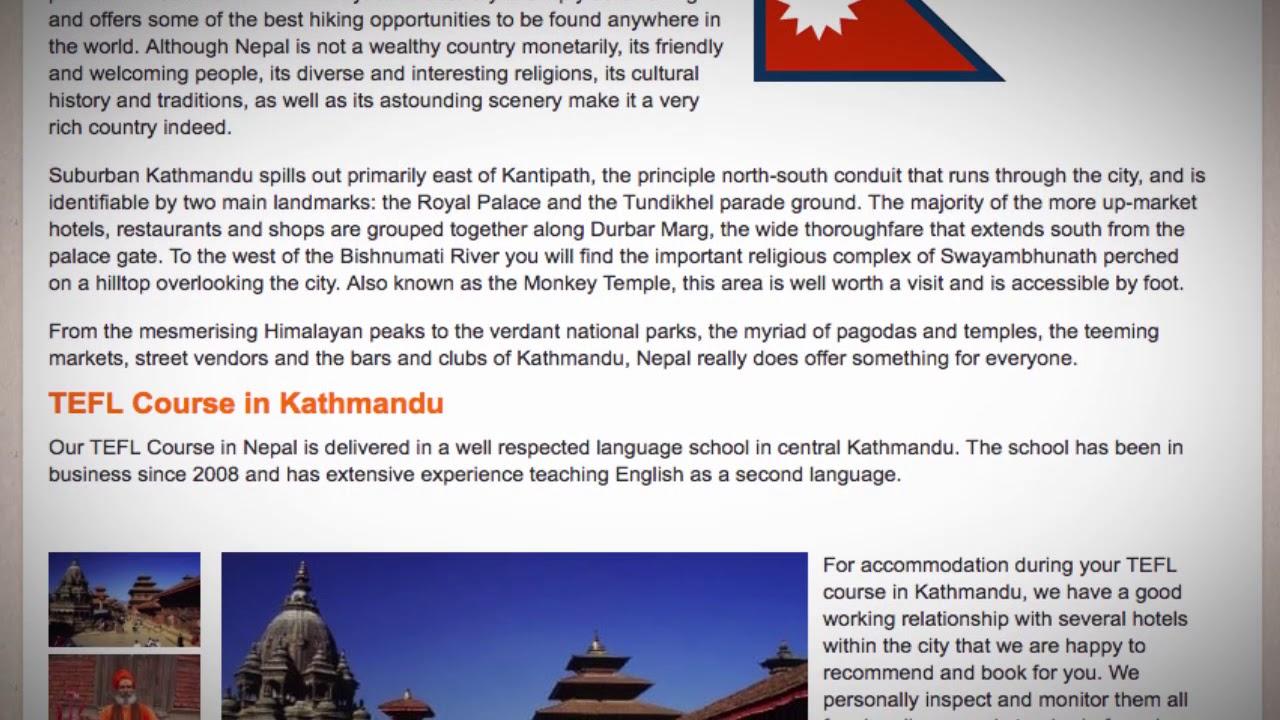 TEFL / TESOL Course in Kathmandu, Nepal   Teach & Live abroad!