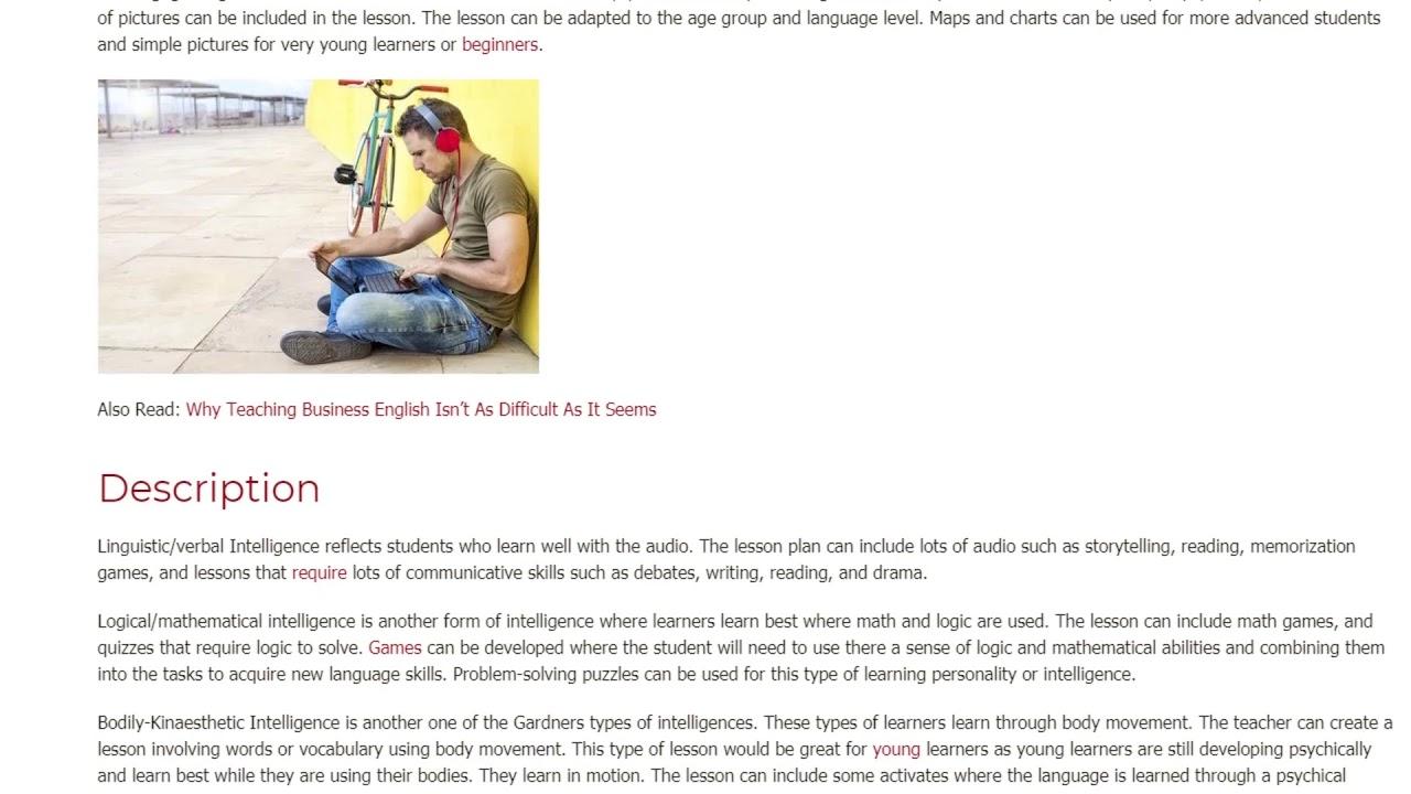 H. Gardner's Theory Multiple Intelligences | ITTT TEFL BLOG