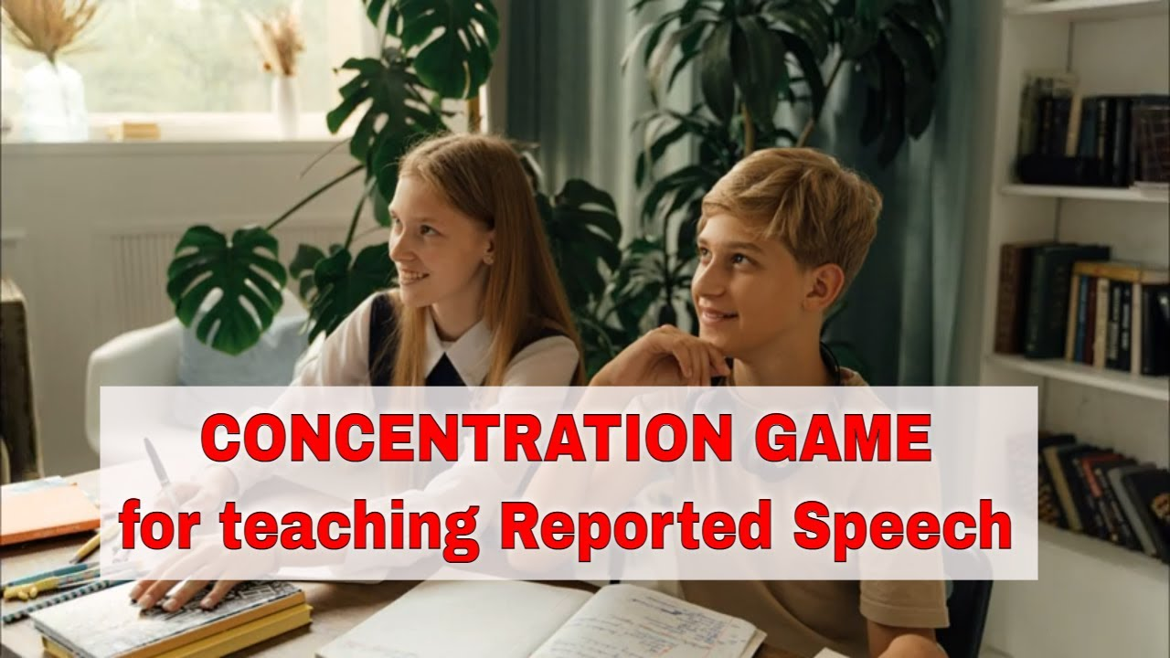 """Activity for Teaching Reported Speech """"Concentration"""""""
