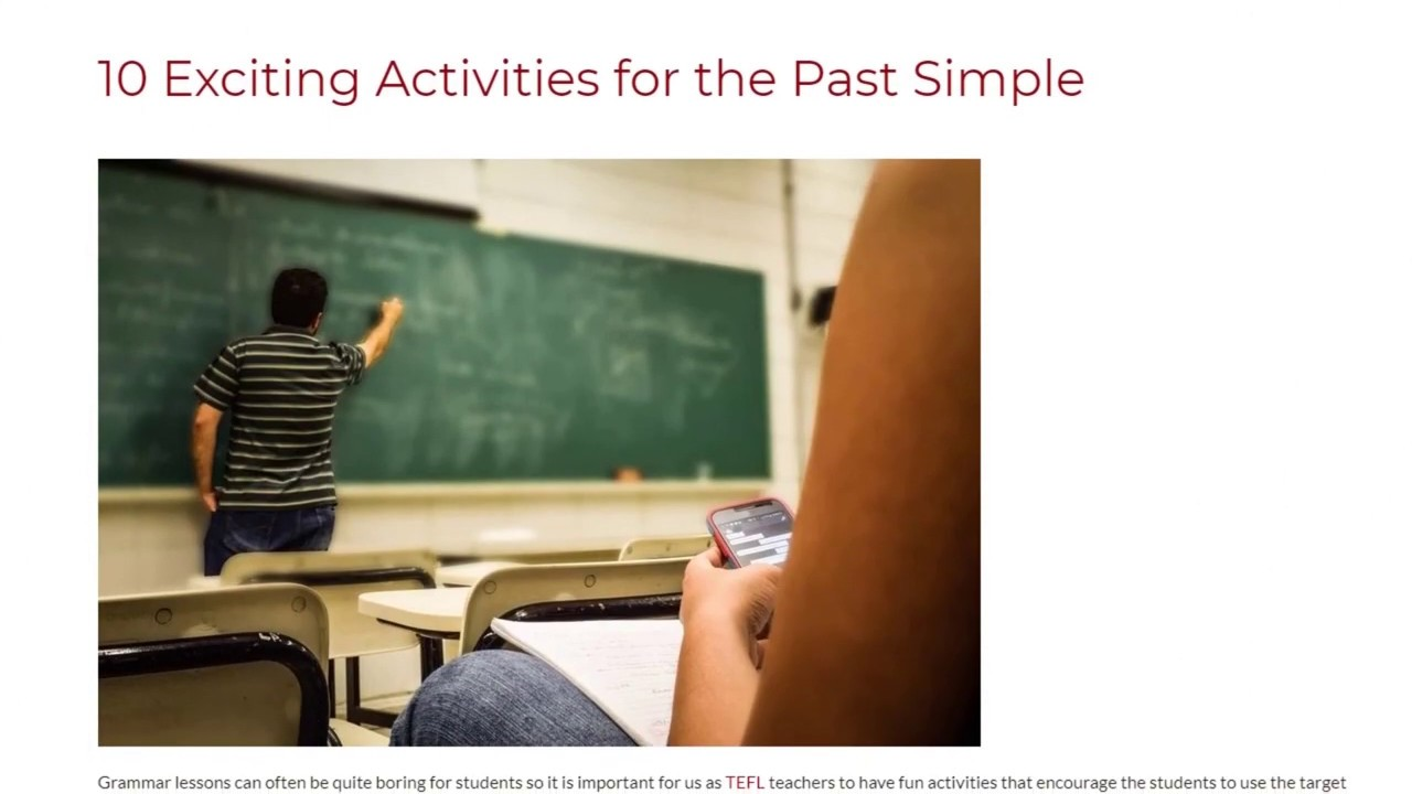 10 Exciting Activities for the Past Simple | ITTT TEFL BLOG
