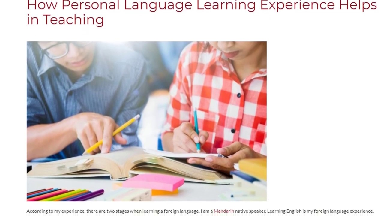 How Personal Language Learning Experience Helps in Teaching | ITTT TEFL BLOG