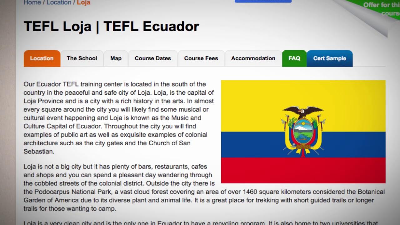 TEFL / TESOL Course in Loja, Ecuador   Teach & Live abroad!