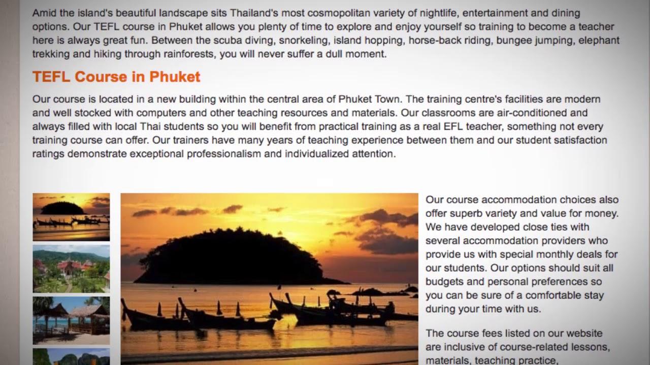 TEFL / TESOL Course in Phuket, Thailand   Teach & Live abroad!