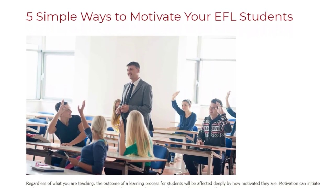 5 Simple Ways to Motivate Your EFL Students | ITTT TEFL BLOG