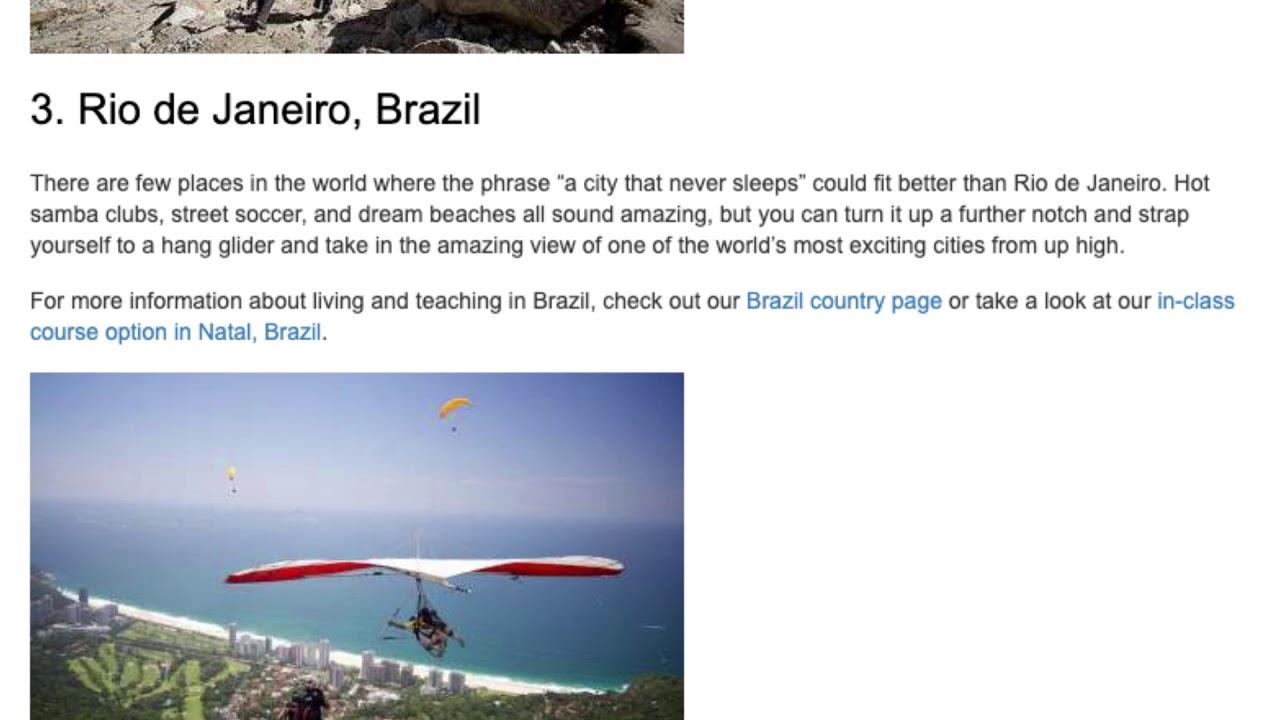 The Top 5 TEFL Destinations for Adrenaline Junkies and Adventure Seekers   ITTT TEFL BLOG