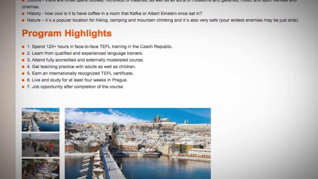 TEFL / TESOL Course in Prague, Czech Republic   Teach & Live abroad!