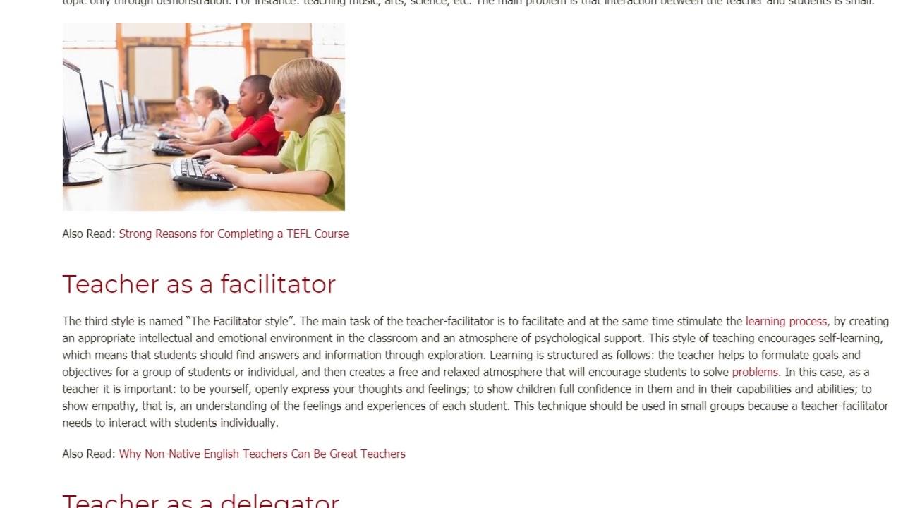 The 5 Main Types of Teaching Styles | ITTT TEFL BLOG
