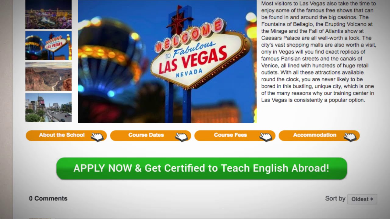 Combined TEFL / TESOL School in Las Vegas, USA | Teach & Live abroad!