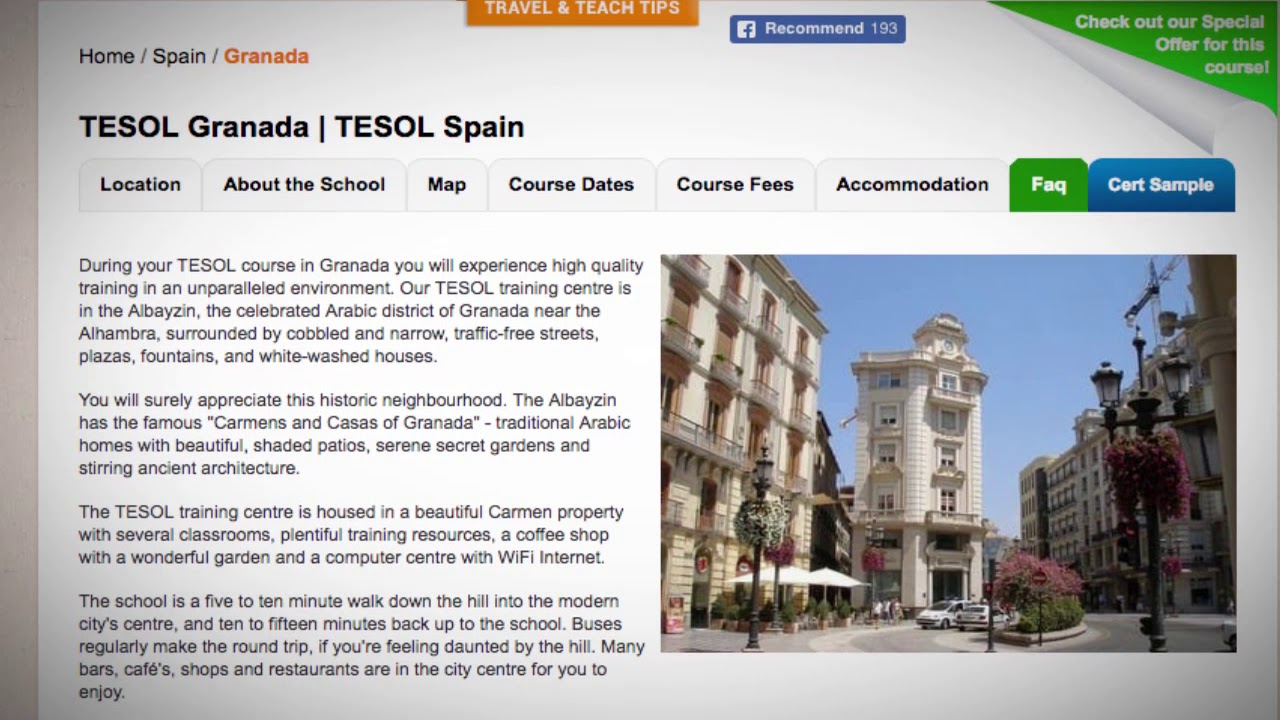 Welcome to Our TESOL School in Granada, Spain | Teach & Live abroad!