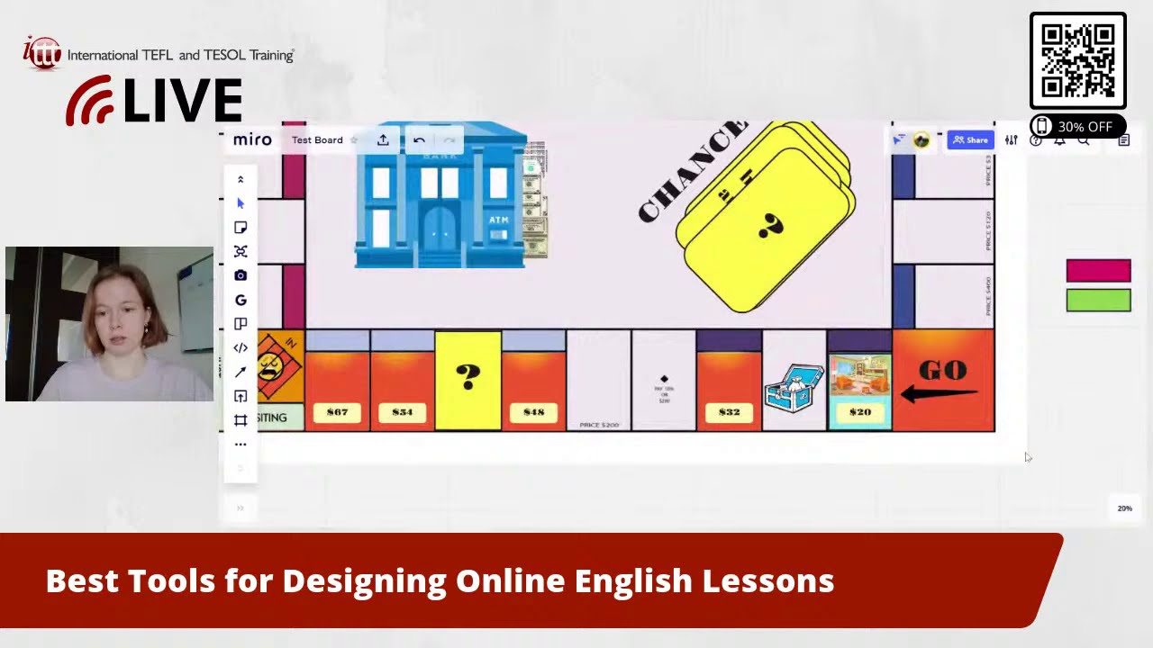 Designing Online English Lessons With Miro and Canva