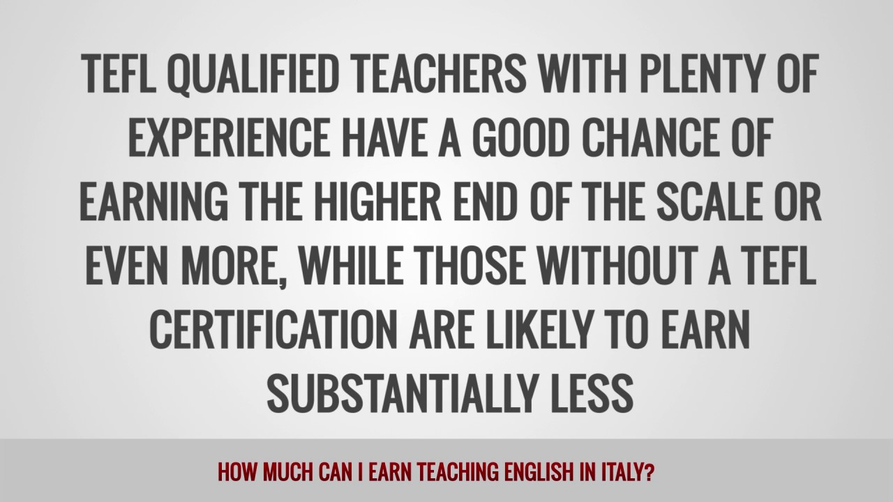 ITTT FAQs – How much can I earn teaching English in Italy?