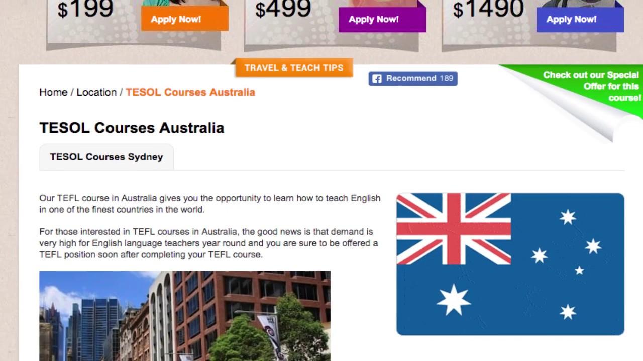 TESOL Course in Australia   Teach & Live abroad!