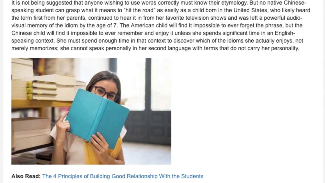 The Necessity of Slang and Idioms in ESL Studies | ITTT | TEFL Blog