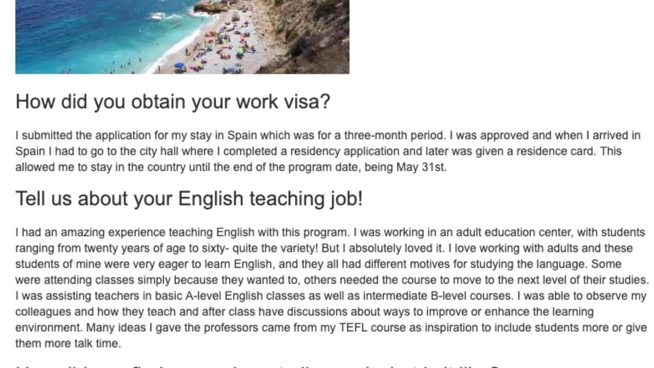 Teaching English in Spain – Alumni Report by Julia E. | ITTT TEFL BLOG