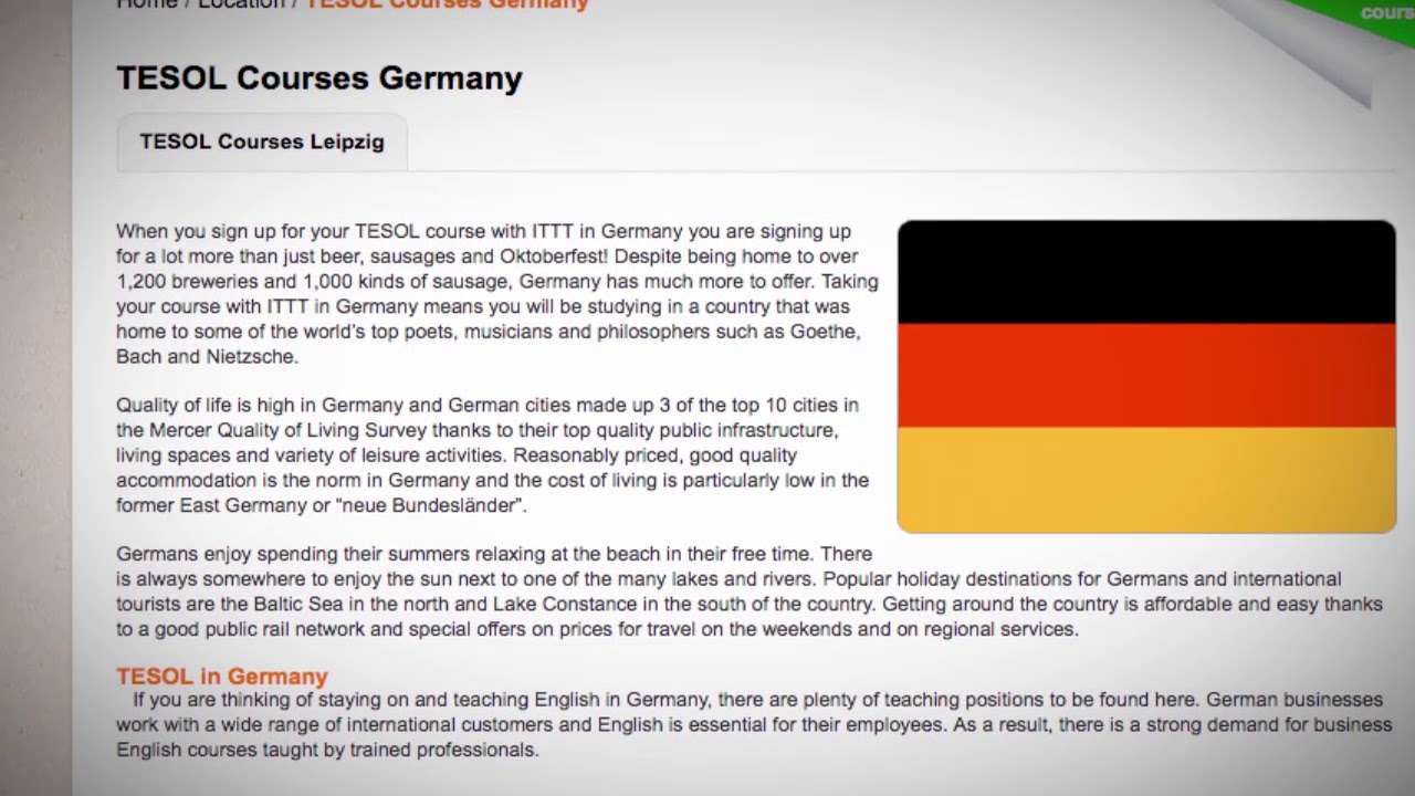 TESOL Course in Germany | Teach & Live abroad!